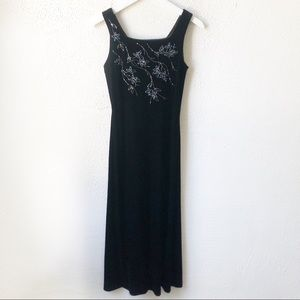 Vintage Arianna Velvet Decorative Evening Dress 6
